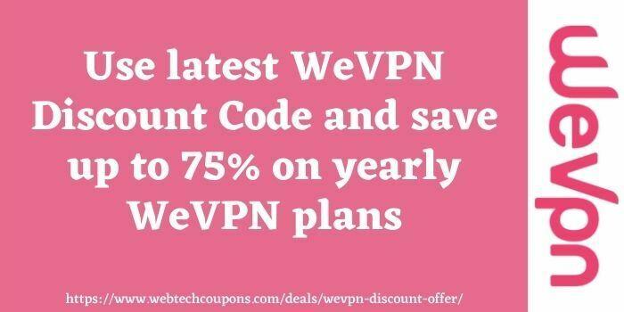 WeVPN Discount code