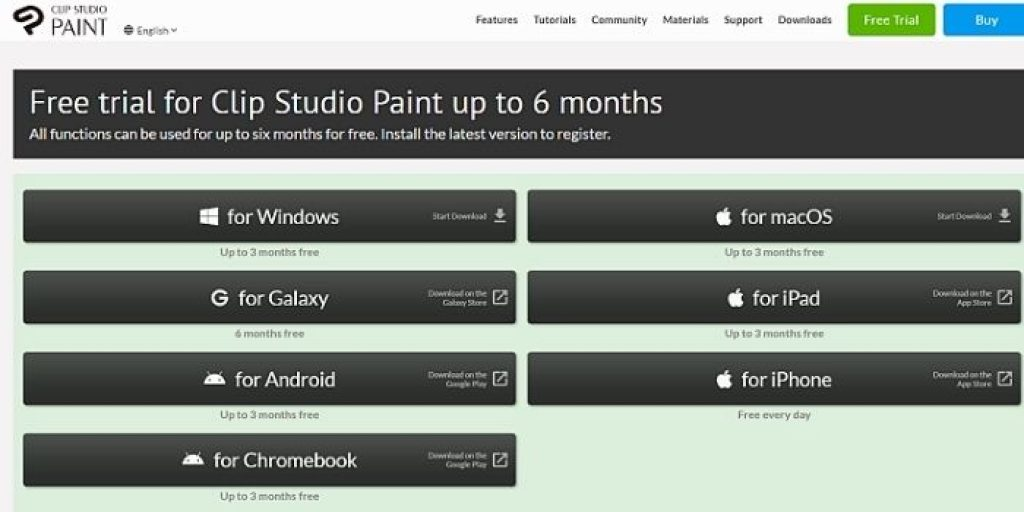 clip studio paint free trial