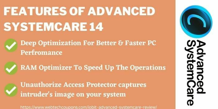 Features of iobit advanced systemcare