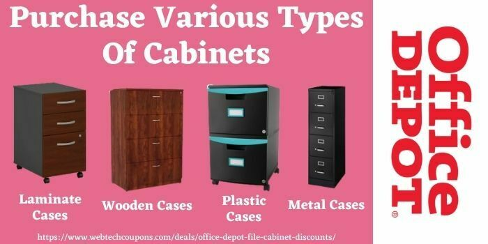 Buy laminate, wooden, plastic, & metal cases with Office Depot Coupon