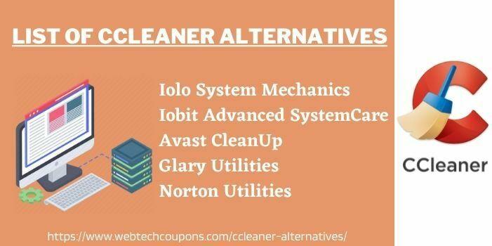 List Of CCleaner Alternatives