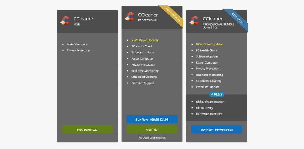 Which CCleaner Version Is Best For You Pricing Structure Of CCleaner
