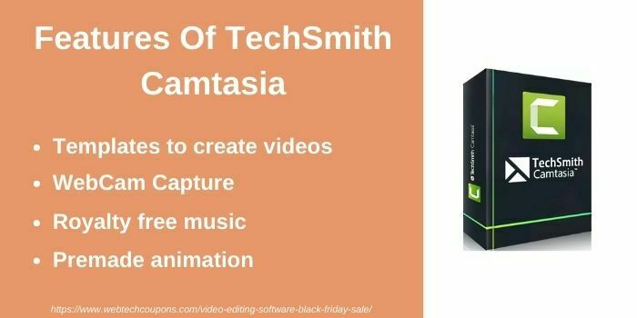 Black Friday Sale on Techsmith Camtasia video editing software