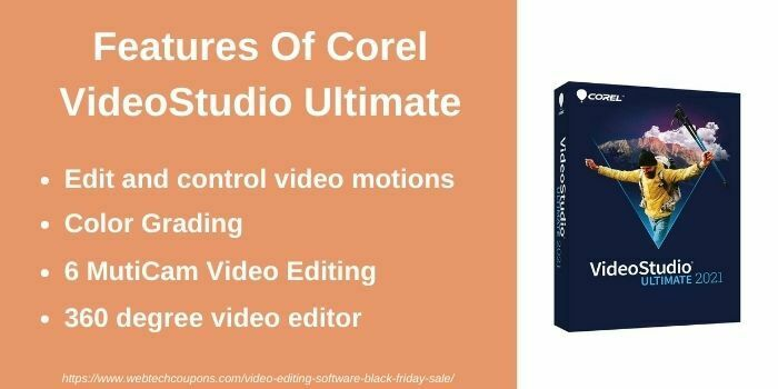 Features of Corel VideoStudio Ultimate
