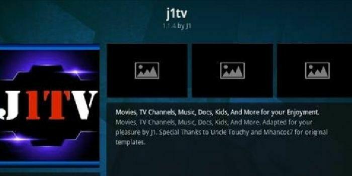J1 TV kodi addon