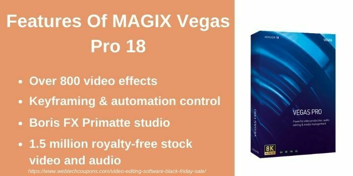MAGIX Vegas Pro 18 Black Friday deal