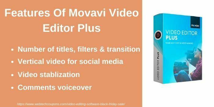 Movavi video editor plus features