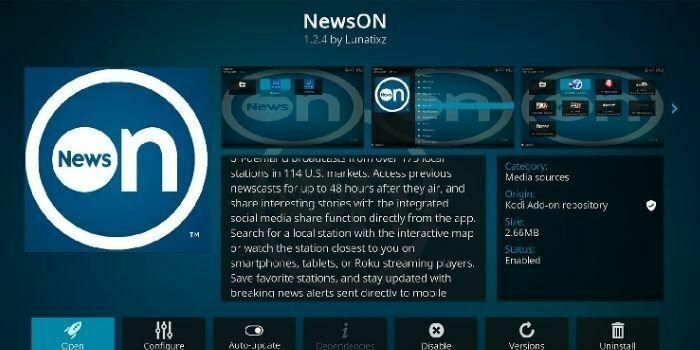 NewsON Addon For Kodi