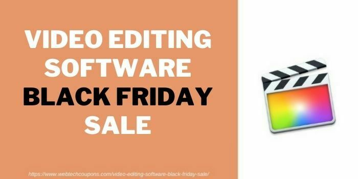 Video Editing software black friday sale