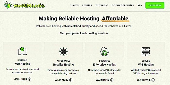 HostMantis website hosting for beginners