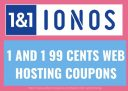1and1 Web Hosting start at 99 cents only