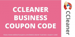 CCleaner Business Coupon Code 2021