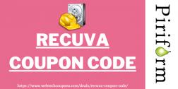 Recuva Coupon Code 2021   Get exclusive 25% discount on Piriform Recuva