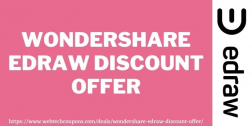 Wondershare Edraw Discount Offer 2021   Exclusive Edraw Discount Deal