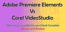Compare Adobe Premiere Elements Vs Corel VideoStudio 2021