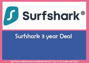 Surfshark 3 year Deal or 36 months Plan offers 2021 Grab Now